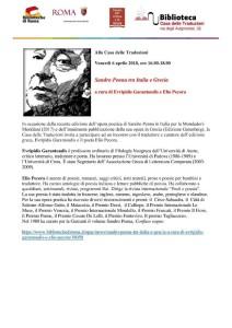 Sandro Penna invito 6 aprile-1